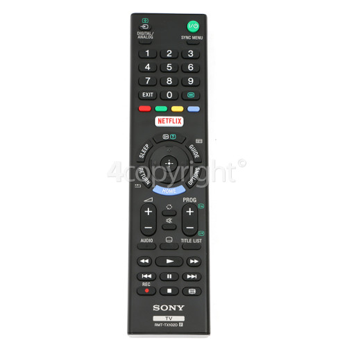 Sony Remote Control : RMT-TX102D