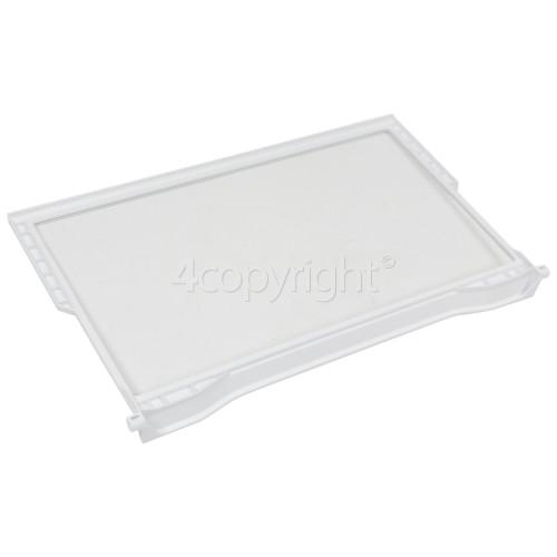 Whirlpool Fridge Upper Glass Shelf : 475x288mm Max. Inc. Trims