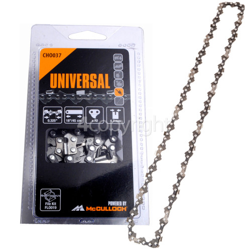 "Flymo CHO037 45cm (18"") 72 Drive Link Chainsaw Chain"
