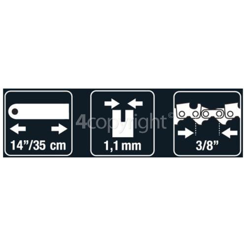 "McCulloch BRO005 35cm (14"") 52 Drive Link Chainsaw Bar"