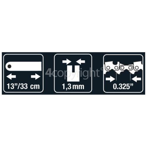 "Flymo BRO075 33.02cm (13"") 56 Drive Link Chainsaw Bar"