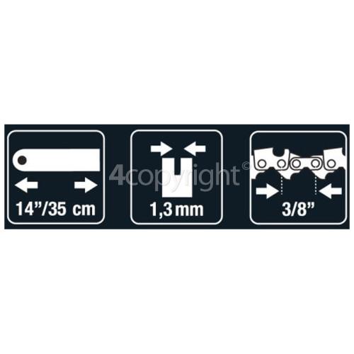 "Flymo BRO078 35cm (14"") 52 Drive Link Chainsaw Bar"
