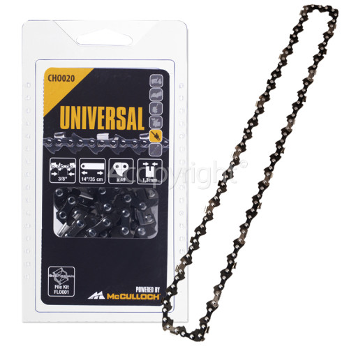 """McCulloch CHO020 35cm (14"""") 49 Drive Link Chainsaw Chain"""