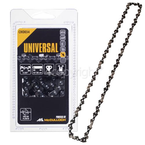 """McCulloch CH0034 38cm (15"""") 64 Drive Link Chainsaw Chain"""