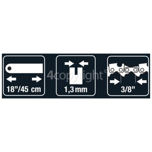 "McCulloch BRO071 45cm (18"") 60 Drive Link Chainsaw Bar"