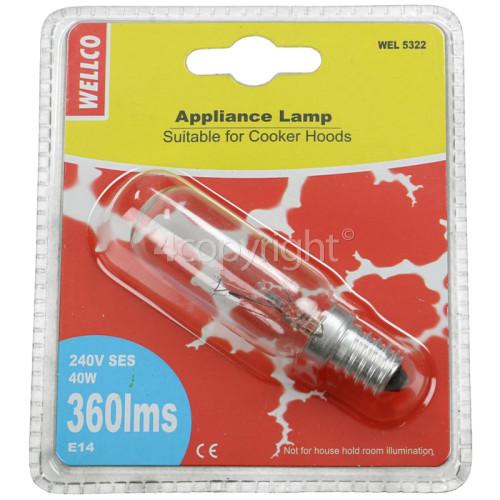 Wellco Universal 40W SES (E14) Long Appliance Lamp