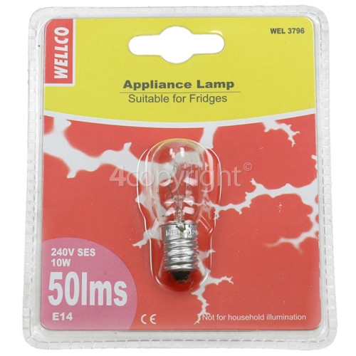 Sharp 10W SES (E14) Pygmy Lamp - Warm White (fridges Etc. Appliance Lamp