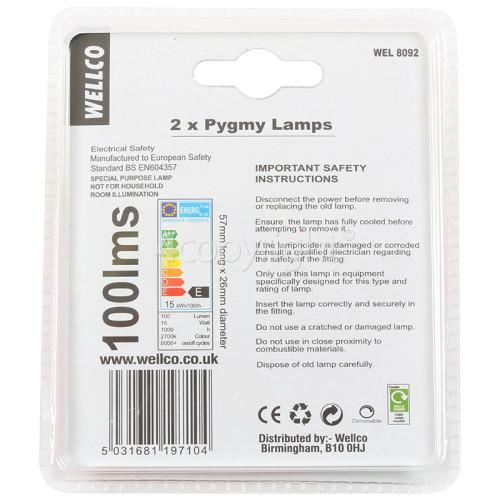 Wellco 15W Fridge Lamp SES/E14 240V