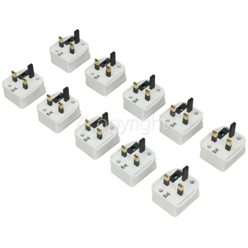Wellco Bulk 1A Fused Shaver Adaptor (Box Of 10)