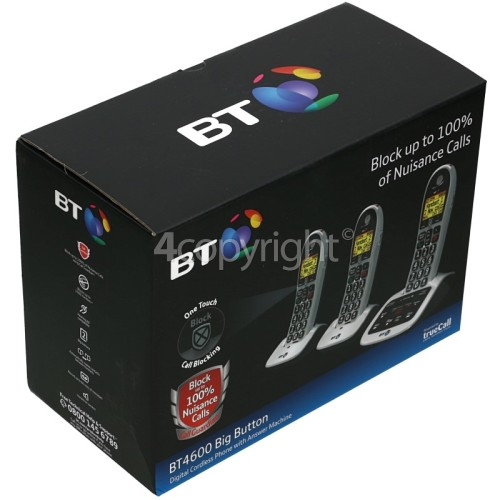 BT BT4600 Call Guardian Advanced Nuisance Call Blocker - Triple Digital Phone