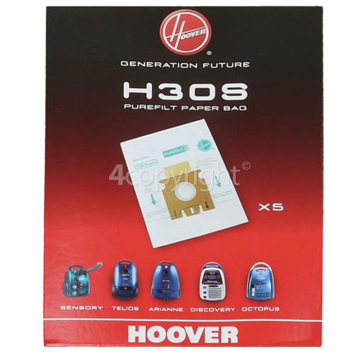 Hoover H30S Dust Bag (Pack Of 5)