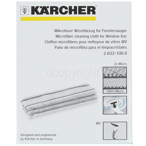 Karcher Microfibre Cleaning Cloth (Pack Of 2)