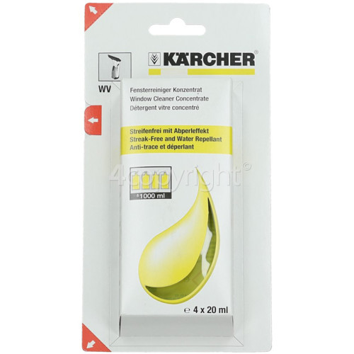 Karcher Window Cleaner Concentrate - Pack Of 4