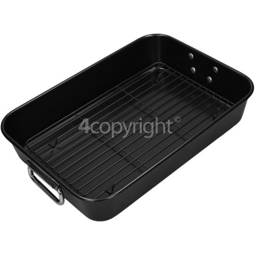 Non-Stick Roaster Pan & Rack : 395x280x75mm Deep