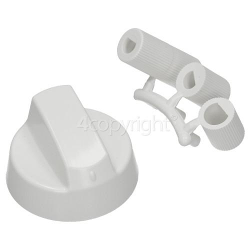 Universal Multifit Cooker Control Knob - White