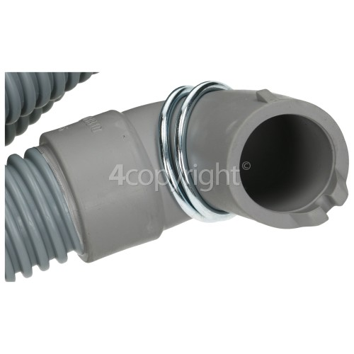 DeDietrich 2.37mtr. Drain Hose 19mm End With Right Angle End 22mm, Internal Dia.s'