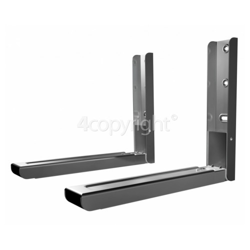 AVF Microwave Oven Wall Brackets (1 Pair) Silver