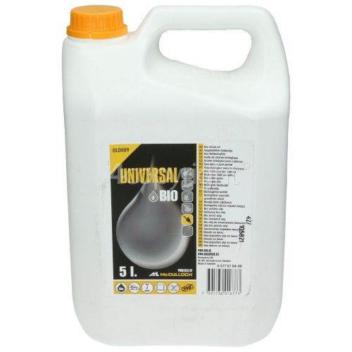 Universal Powered By McCulloch OLO024 Mineral Chain Oil - 5 Litre