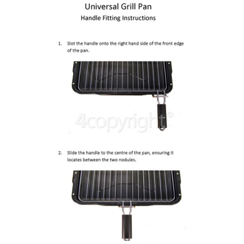 Kuppersbusch Universal Grill Pan Assembly - 385 X 300mm