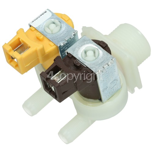 DeDietrich Cold Water Double Solenoid Inlet Valve : 180Deg. With Protected Tag Fitting