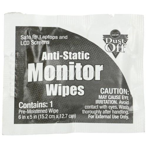 Dust Off Monitor Wipes Sachet