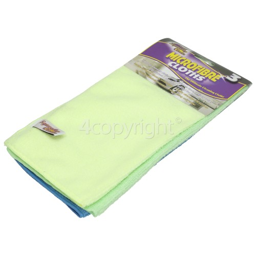 Sharp Microfibre Cloths (Pack Of 3)