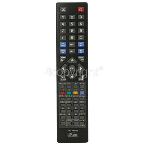 Sharp Compatible All Function TV Remote Control