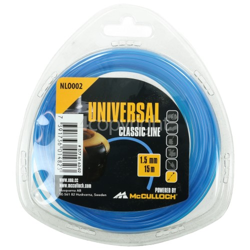 Universal Powered By McCulloch NLO002 Round Strimmer Nylon Line