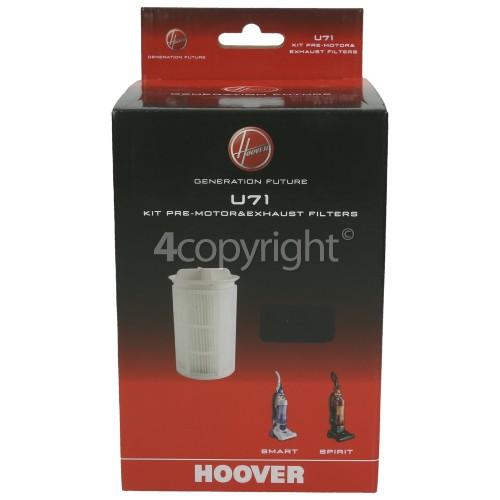 Hoover Vacuum Cleaner U71 Filter Kit