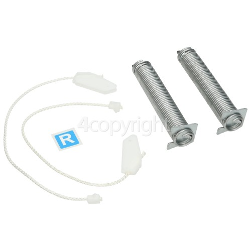 Bosch Door Hinge Spring & Rope Repair Set : Spring Length 125mm / Rope Length 250mm ( White Ends, SPS Intec 4.4 ( 9000955647 )