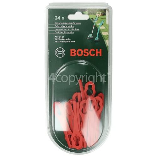 Bosch Grass Trimmer Safety Plastic Blades (Pack Of 24) : ART26LI ART26ACCUTRIM ART26EASYTRIM