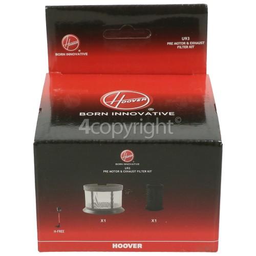 Hoover U93 Pre-Motor & Exhaust Filter Kit