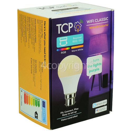 TCP Smart WiFi 9W BC/B22 Classic LED Lamp (White & Colourful)