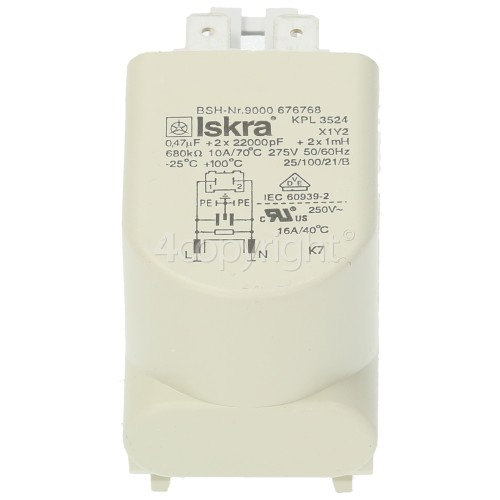 Bosch KAD62S21/01 Capaciter-interference Filter : Iskra KPL3524 (BSH-NR 9000 676768