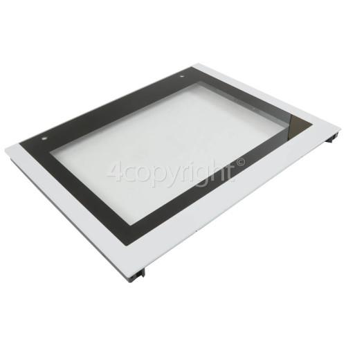 Blomberg White Main Oven Outer Door Glass