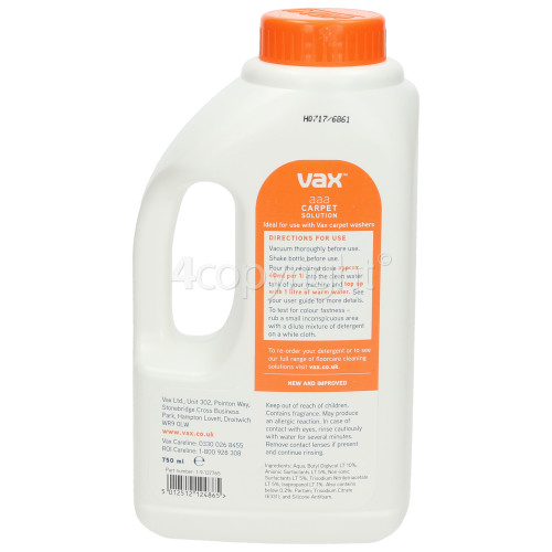 Vax AAA Carpet Cleaning Solution - 750ml
