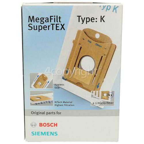 Bosch Type K MegaFilt SuperTEX Dust Bag & Filter Kit (Pack Of 4)