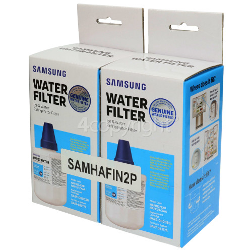 Samsung HAFIN2/EXP Internal Water Filter Cartridge - Twin Pack