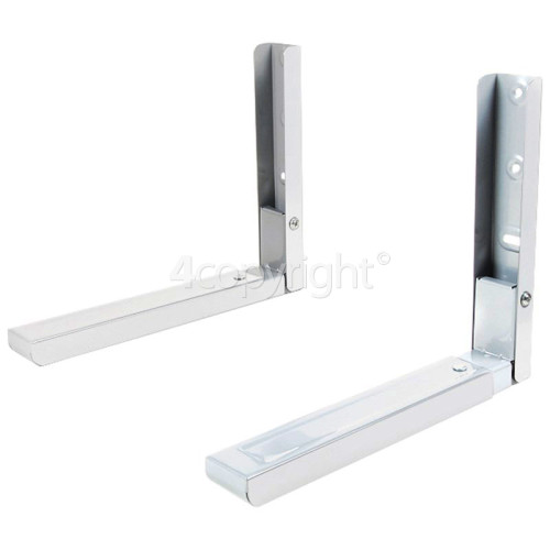 Wellco EMG454 Microwave Oven Wall Bracket (Pair) White