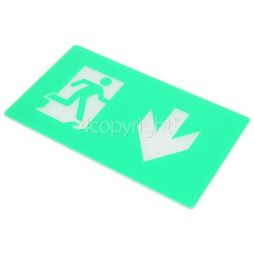 Eterna Down Arrow Legend For Compact LED Exit Box
