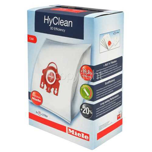 Miele FJM HyClean 3D Efficiency Dust Bag & Filter Pack - Pack Of 4 Bags