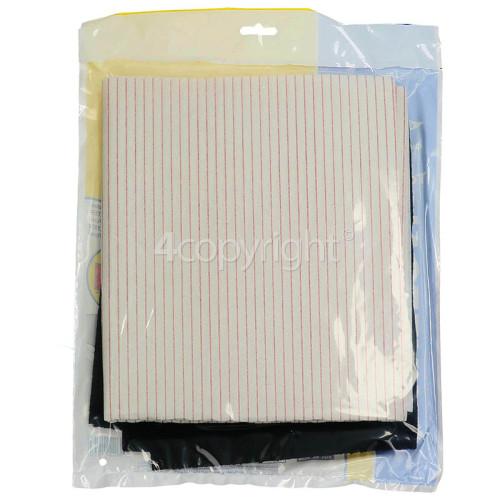 Cooker Hood Grease Paper & Carbon Filter Kit : Grease Filter 1140x470mm / Charcoal Filter 570x470mm ; CUT TO SIZE