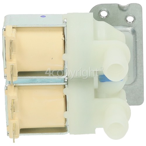 LG F1256QD Cold Water Double Solenoid Inlet Valve : 180deg. With 12 Bore Outlets