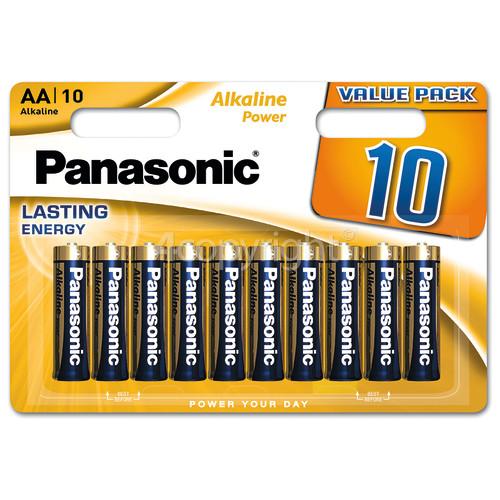 Panasonic AA Alkaline Power Batteries (Pack Of 10)