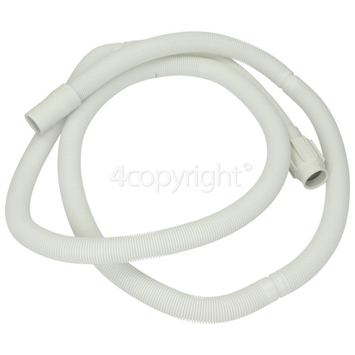 Whirlpool 1. 5M Drain Hose : Straight 22mm / Ribbed End 23mm