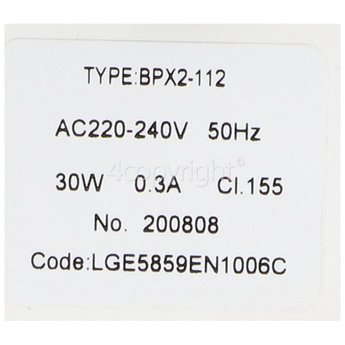 LG Double Drain Pump & Filter Assembly : 2 Leile Changzhou BPX2-112 30W Pumps