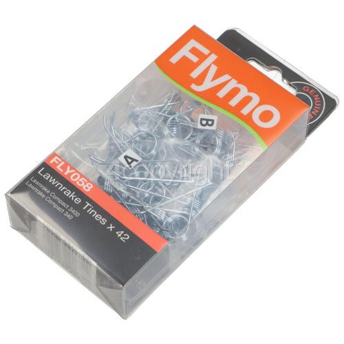 Flymo Lawnrake Compact 3400 FLY058 Lawnrake Tines - Pack Of 42