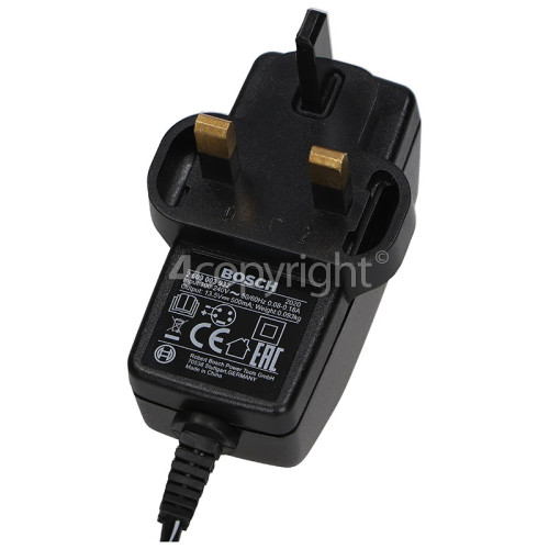 Bosch Power Tool Battery Charger : Input 100-240V 0.18A Output 13.5V 500mA