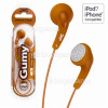 JVC HAF140 'GUMY' In-Ear Headphones - Orange
