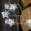 Noma 40 WHITE LED CRYSTAL STAR GARLAND